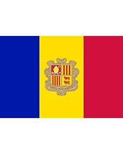 Fahne: Flagge: Andorra
