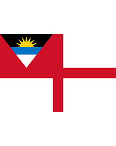 Fahne: Flagge: Coastguard Ensign of Antigua and Barbuda