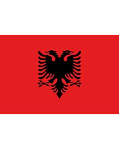 Fahne: Flagge: Albanien