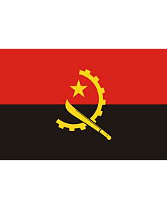 Fahne: Flagge: Angola