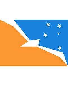 Fahne: Flagge: Tierra del Fuego (Provinz)