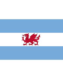 Fahne: Flagge: Welsh colony in Patagonia | Puerto Madryn and the Welsh colony in Patagonia | Puerto Madryn y de la Colonia Galesa de la Patagonia | Porth Madryn  Y Wladfa