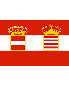 Fahne: Flagge: Naval Ensign of Austria Hungary 1918