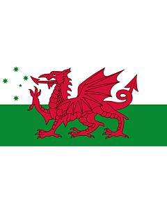 Fahne: Flagge: Australian Welsh heritage