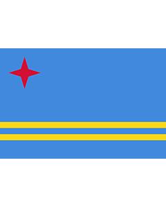 Fahne: Flagge: Aruba