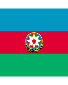 Fahne: Flagge: Standard of the President of Azerbaijan