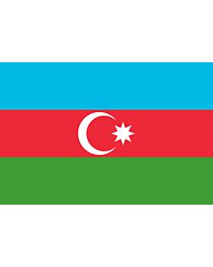 Fahne: Flagge: Aserbaidschan
