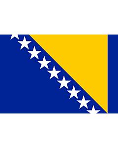 Fahne: Flagge: Bosnien und Herzegowina