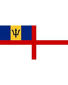 Fahne: Flagge: Naval Ensign of Barbados