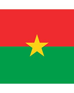 Fahne: Flagge: Presidential Standard of Burkina Faso