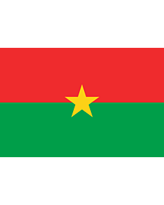 Fahne: Flagge: Burkina Faso