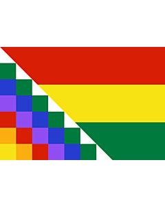Fahne: Flagge: Proposed flag of Bolivia | Possible proposal of Evo Morales for a new flag of Bolivia | Diseño de posible bandera propuesta por Evo Morales para Bolivia