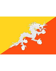 Fahne: Flagge: Bhutan
