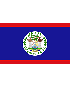 Fahne: Flagge: Belize