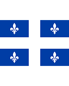 Fahne: Flagge: Québec