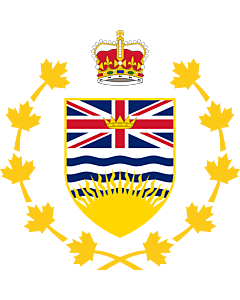 Fahne: Flagge: Crest of the Lieutenant Governor of British Columbia