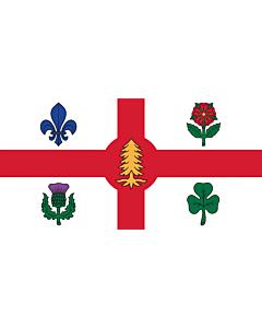 Fahne: Flagge: Die Fahne der Stadt Montreal, Kanada