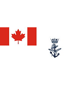 Fahne: Flagge: Naval Jack of Canada