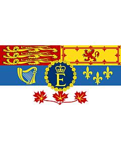 Fahne: Flagge: Royal Standard of Canada | Queen Elizabeth II for personal use in Canada  1962–present | Reine Élisabeth II pour son usage personnel au Canada  1962–actuel