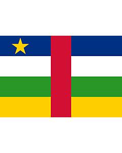 Fahne: Flagge: Zentralafrikanische Republik