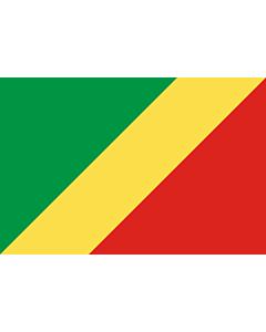 Fahne: Flagge: Republik Kongo