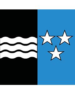 Fahne: Flagge: Kanton Aargau