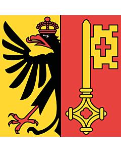 Fahne: Flagge: Republik und Kanton Genf