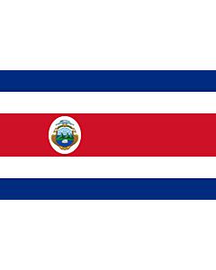 Fahne: Flagge: Costa Rica