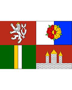 Fahne: Flagge: Südböhmische Region