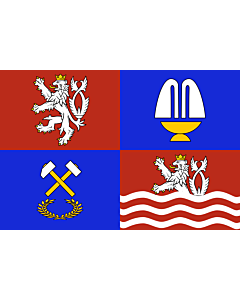 Fahne: Flagge: RegionKarlovyVary