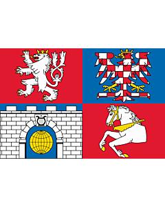 Fahne: Flagge: RegionPardubice