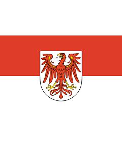 Fahne: Flagge: Brandenburg