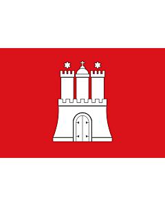 Fahne: Flagge: Hamburg