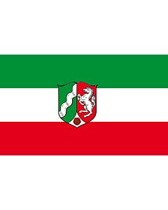 Fahne: Flagge: Nordrhein-Westfalen