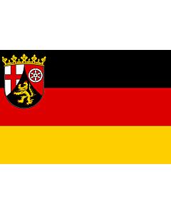 Fahne: Flagge: Rheinland-Pfalz
