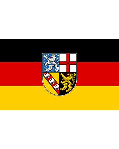 Fahne: Flagge: Saarland