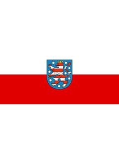 Fahne: Flagge: Thüringen