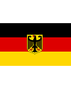 Fahne: Flagge: Germany  unoff   State flag with coat of arms instead of  federal shield   unofficial variant