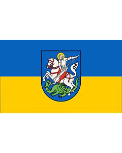 Fahne: Flagge: Beschreibung der Flagge  Die Stadtfarben sind BlauGelb