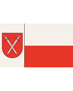 Fahne: Flagge: Beschreibung der Flagge  Der Stadt ist ferner mit Urkunde des Regierungspräsidenten in Arnsberg vom 18.02.1977 das Recht zur Führung einer Flagge verliehen worden