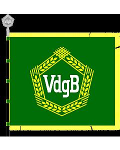 Fahne: Flagge: Vereinigung der gegenseitigen Bauernhilfe  VdgB