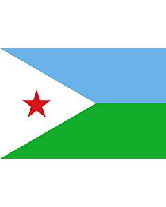 Fahne: Flagge: Dschibuti