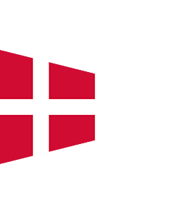 Fahne: Flagge: Naval Rank Flag of Denmark - Chief of Squadron   Danish naval rank flag for the Chief of Squadron   Eskadrechefsstander