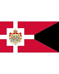 Fahne: Flagge: Royal Standard of Denmark   Det danske kongeflag