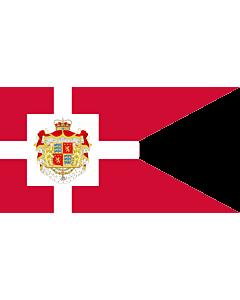 Fahne: Flagge: Standard of Prince Henrik   H.K.H. Prins Henriks  Prinsgemalens