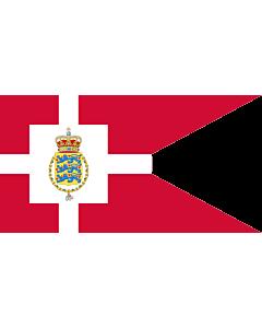 Fahne: Flagge: Standard of the Crown Prince of Denmark   Det danske tronfølgerflag  bruges af H