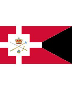 Fahne: Flagge: Standard of the Regent of Denmark   Rigsforstanderflaget
