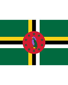 Fahne: Flagge: Dominica