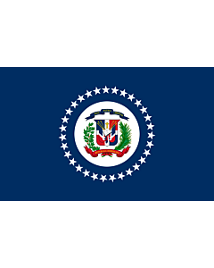 Fahne: Flagge: Naval Jack of the Dominican Republic