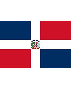 Fahne: Flagge: Dominikanische Republik
